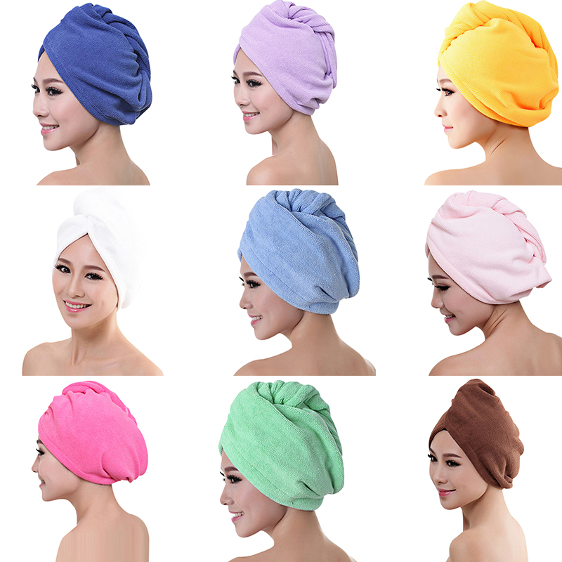 Microfibre Thickened After Shower Hair Drying Wrap Womens Girls Lady's Towel Quick Dry Hair Hat Turban Head Wrap Bathing Tools 7