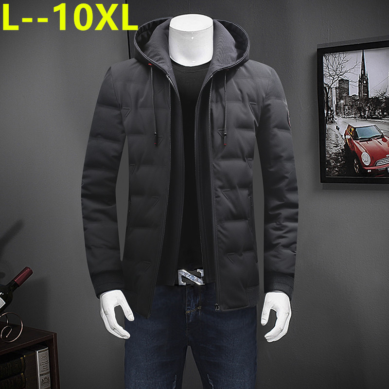 New Winter Jacket Men High Quality Fashion Casual Coat Hood Thick Warm Windproof Dow Jacket Male Winter Parkas Outerwear