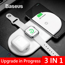 Baseus Wireless Charger For iPhone X XS MAX XR 8 Fast Full load 3 in 1 Charging Pad for Airpods 2019 Apple Watch 4 2
