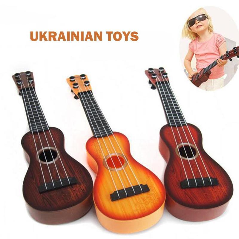 Divertente Ukulele Classica Guitartraining Intelligenza Giocattoli Educativi Strumento Musicale Giocattolo per I Bambini Regalo di Compleanno