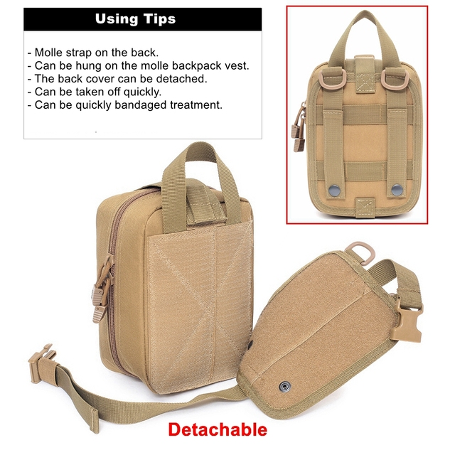 Molle Tactical First Aid Kits Medical Bag Emergency Outdoor Army Hunting Car Emergency Camping Survival Tool Military EDC Pouch 4