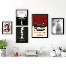 TV Play Series Supernatural Posters Wall Art Canvas Painting Nordic Posters And Prints  For Living Room Decor