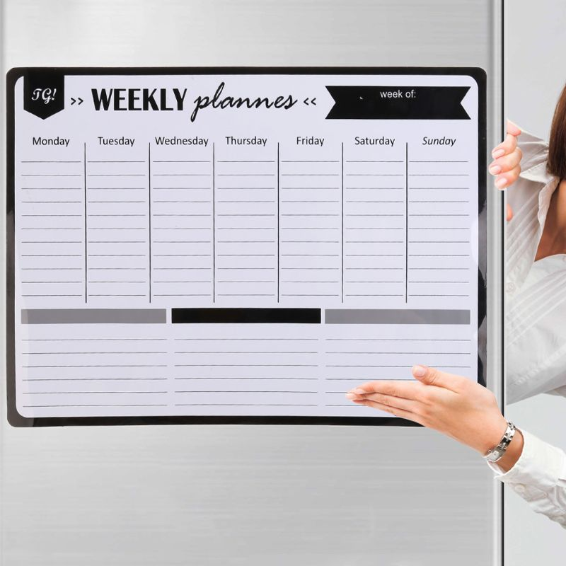 White Board Weekly Planner Soft Magnetic Whiteboard Fridge Magnets Message Remind Memo Pad Pizarra Blanca