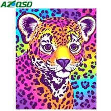 AZQSD Diamond Painting Anima 5d DIY Embroidery Cheetah Picture Of Rhinestones Full Art Decor Home