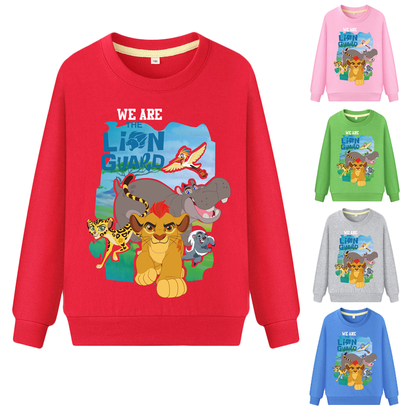 2019 New Arrival Sweatshirts Winter Spring Autumn Children Hoodies The Lion King Long Sleeves Sweater Kids T-shirt Clothes