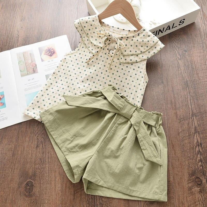 Melario meninas conjunto de roupas de verão