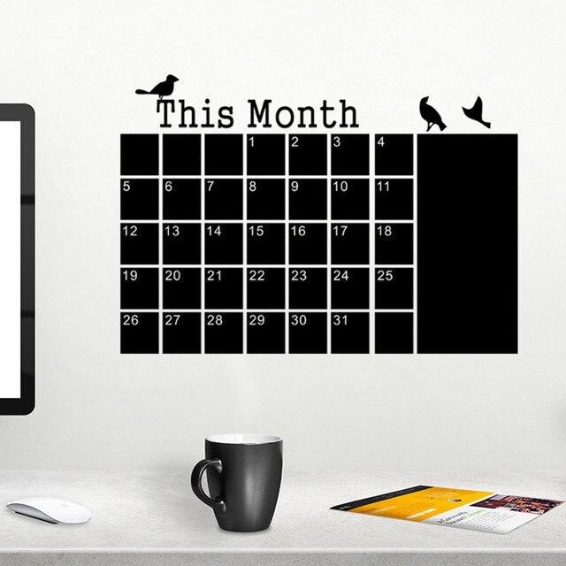 Blackboard Chalk DIY Monthly Planner Calendar