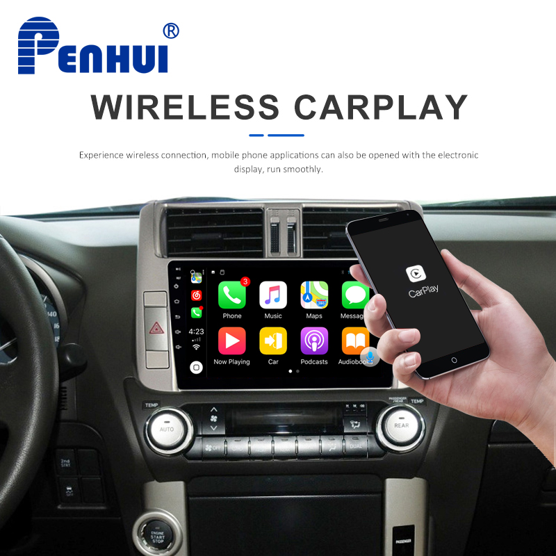 9 inch Intel TS9 Octa-Core Android 8.1 4GB RAM+64GB ROM of <font><b>Car</b></font> DVD GPS <font><b>for</b></font> <font><b>Toyota</b></font> <font><b>Prado</b></font> <font><b>150</b></font> (<font><b>2010</b></font>-2013) with DSP+CarPlay+4G+Wifi image
