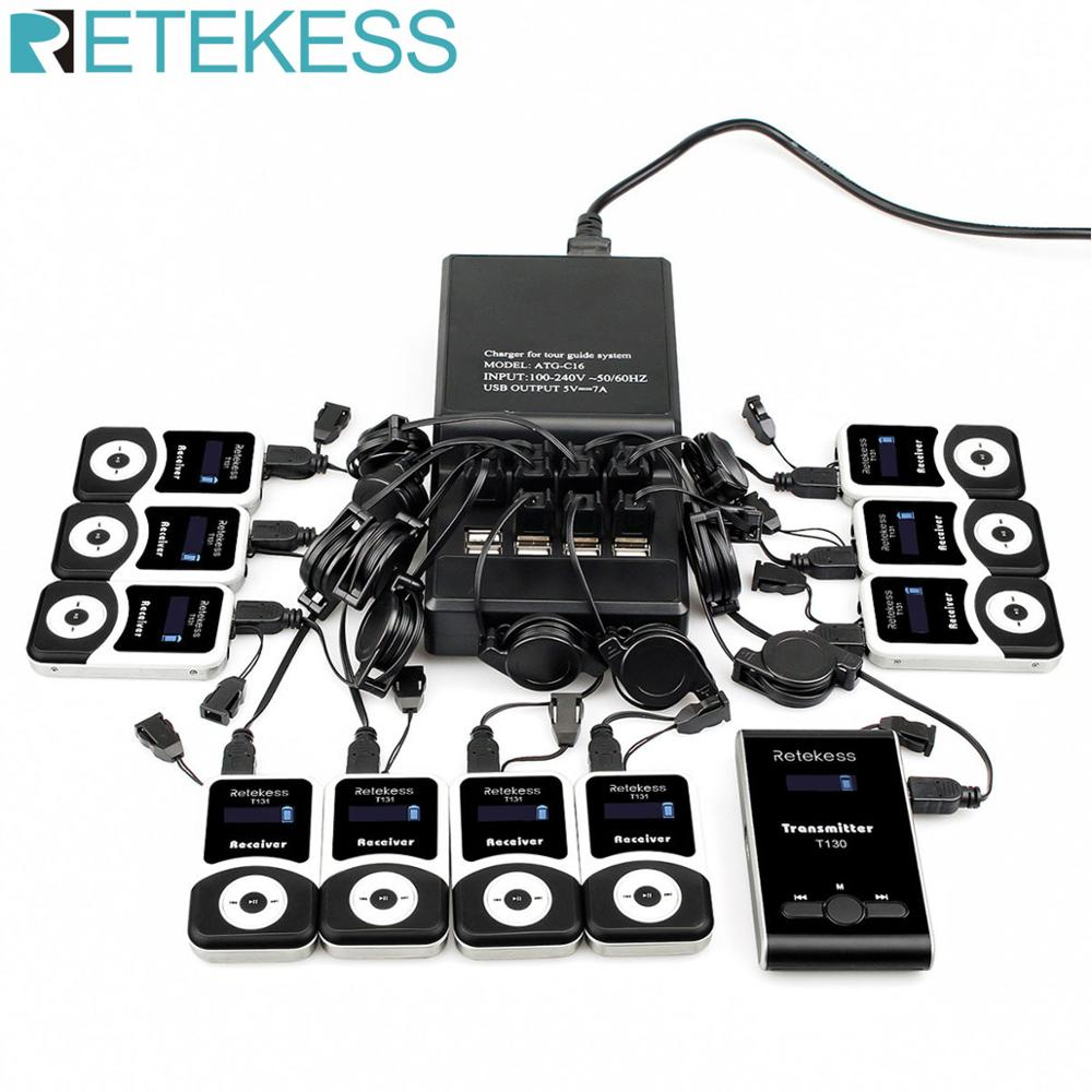 RETEKESS Wireless Tour Guide System 195 230MHz Microphone Simultaneous Interpretation Translation System For Church Conference-in Microphones from Consumer Electronics