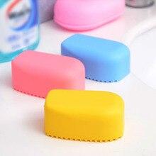 Конфетный Цвет силиконовая мини-стиральная доска 1 шт. стиральная доска для белья ручная Очищающая щетка Нескользящая маленькая мочалка