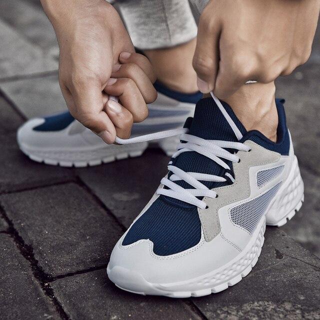 יוקרה גברים נעליים יומיומיות Tenis לנשימה Krasovki תחרה עד אופנה מגמת ספורט אור סניקרס זכר Chaussure Zapatillas Homme 46