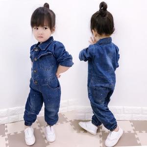 Image 5 - CNFSNJ new Baby Boy Girls Costume Cowboy Fashion Jeans Children Soft Denim Baby Romper Graffiti Infant Clothes Newborn Jumpsuit