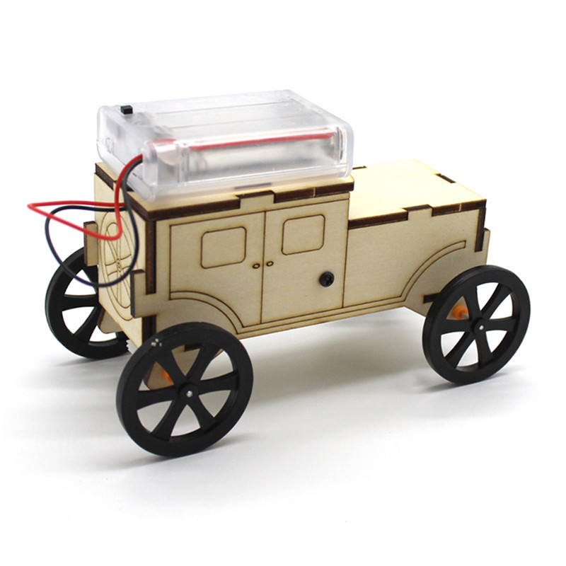 DIY Smart Robot Car STEAM Body Induction Educational Kit Wood Model for Children Remote Control Toys Gift