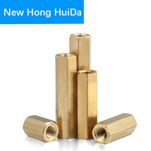 M5XL Hex Brass Male Female Standoff Stud Mount Pillar Threaded Hexagon PCB Motherboard Spacer Hollow Column Bolt Screw M5