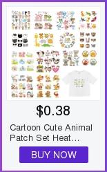 H1ffdfd79df384db78cfa0fc3f694dba7f Cute Animal Patches Set Iron on Transfer Unicorn Owl Cat Dog Patches for Girl Kids Clothing DIY Heat Transfer Vinyl Stickers