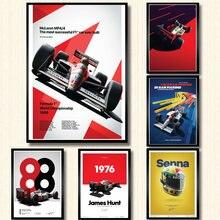 Poster En Prints Hot Ayrton Senna F1 Formule Wereldkampioen Wall Art Canvas Foto Schilderij Moderne Decor Schilderij Obrazy