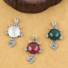 925 Sterling Silver Jewelry Retro Thai Silver Women Models Marcasite Inlaid Red Corundum Bigeye Goldfish Accessories недорого