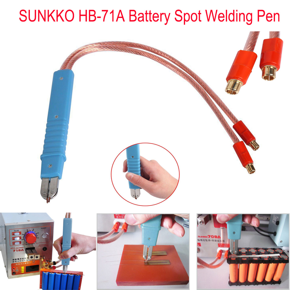 SUNKKO HB-71A Spot Welding Pen Remote Welder Large Size Battery Pack For 18650 Lithium Battery Production DIY Pulse Welding Pen