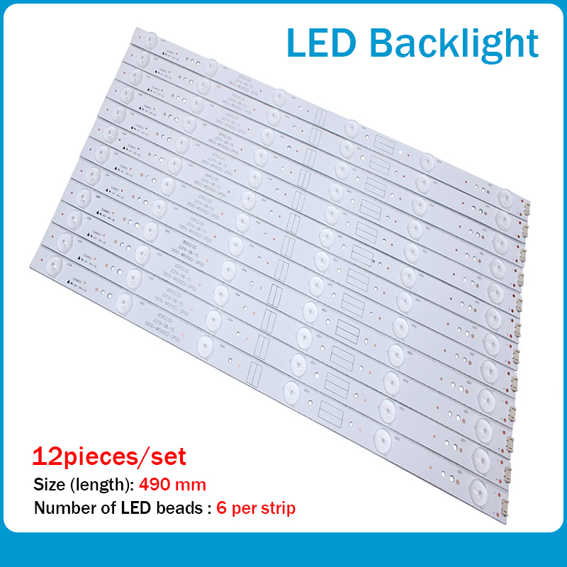 New 12pcs LED Backlight Strip 6lamp For 50E5DHR 50X5 50E3500 50E6100 Light Bar 5800-W50002-2P00 5800-W50002-0P00 Screen RDL500WY