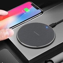 Chargeur sans fil 10W Qi pour Samsung Galaxy S10 S9 S8 Huawei P30 Pro chargeur de téléphone à recharge rapide pour iPhone 11 Pro XS Max XR