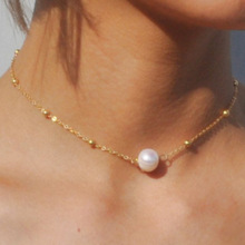 цена на Europe and The United States Sales of Jewelry Faux Pearl Pendant Necklace Big Fashion Pearl Necklace Necklace Women