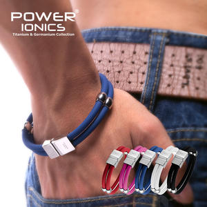 Power Ionics New Healthy Titanium Magnetic Double Style Sport Fashion Wristband Bracelet Free Shipping