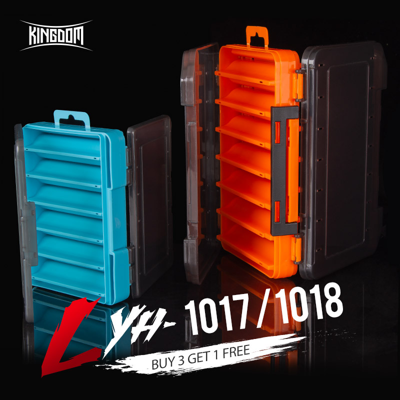 Kingdom Fishing Box 12 14 compartments Fishing Accessories lure Hook Boxes storage Double Sided High Strength Fishing Tackle Box title=