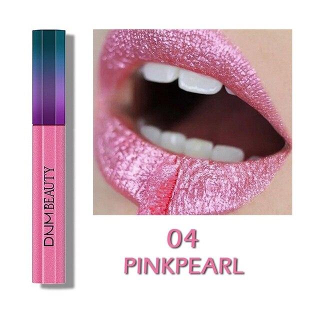 리퀴드 립스틱 12 색 메탈릭 쉬머 핫 & 컬러 립 롱 라스팅 방수 립스틱 코스메틱 d1