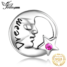 JewelryPalace Moon face 925 Sterling Silver Beads Charms Original For Bracelet original Jewelry Making
