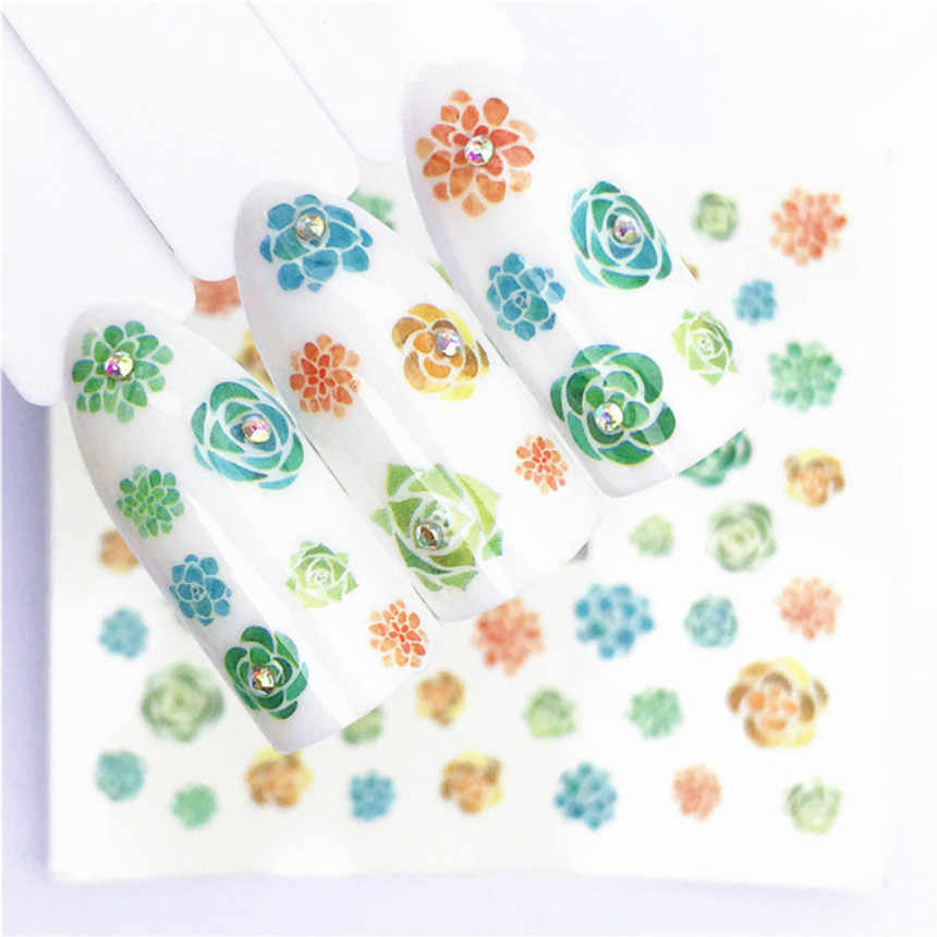 1 Pcs Fashion Bloemen Plant Acryl Poeder Poly Gel Nagellak Nail Art Decorations Crystal Manicure Kit Nail Accesorios