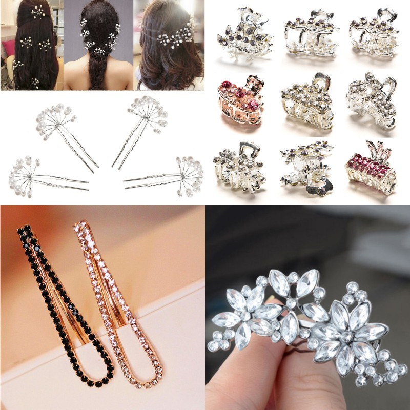 Hot Sale Hair Clip Girl Lady Hair Barrettes Apparel Accessories Headpiece Women Hairpin Hair Claw Gold Silver