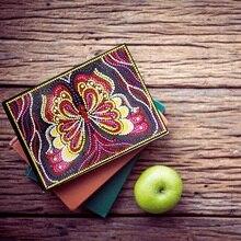Сделай Сам алмазная живопись блокнот мультфильм бабочка Специальная форма А5 дневник набор Алмазная мозаика Алмазная вышивка 1Bjb01