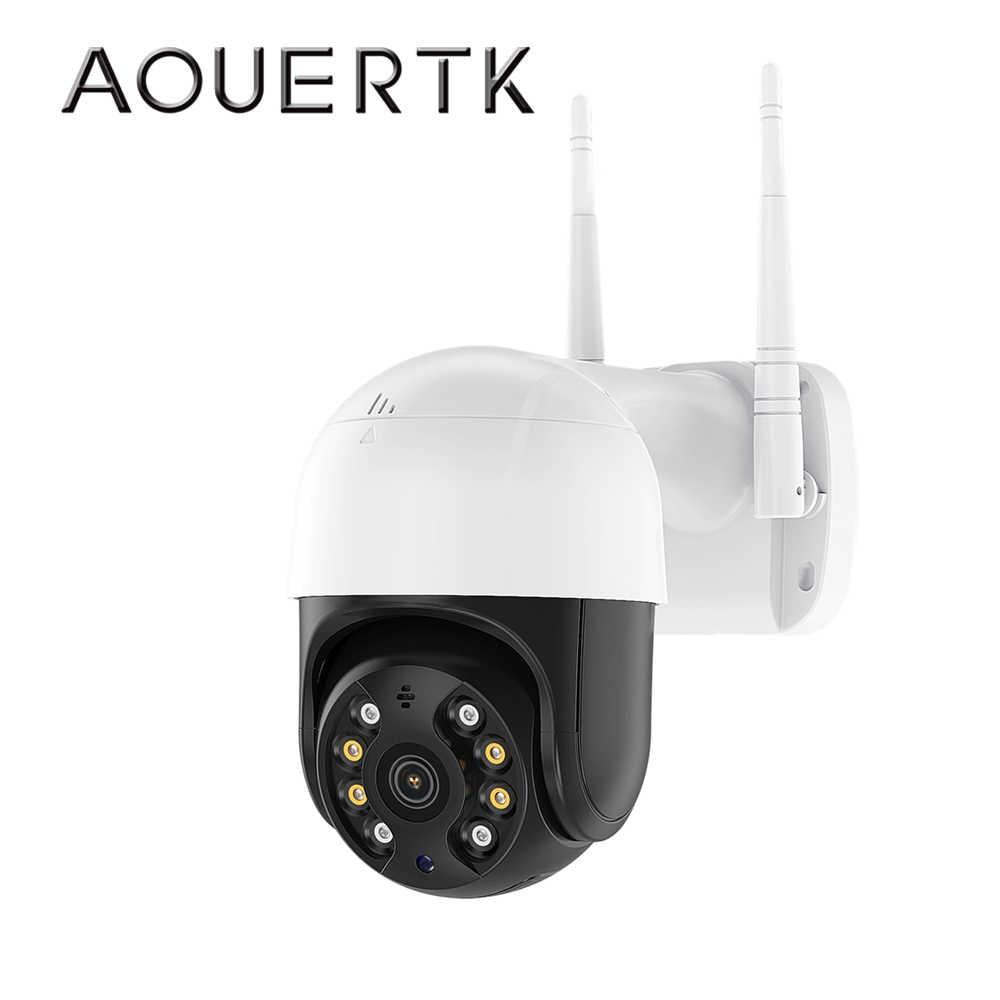 AOUERTK المزدوج ضوء 2MP HD 1080P كاميرا واي فاي في الهواء الطلق كشف الإنسان PTZ CCTV كاميرا IP مقاومة للمياه مراقبة كاميرا بشكل قبة