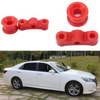 Praktyczny wysokiej jakości czerwony Shifter tuleja poliuretanowy samochód Auto Shifter dźwignia zmiany biegów zestaw tulei kołnierz na skrzynię biegów tanie i dobre opinie CN (pochodzenie) 2 5cm 2019 gear shift collars Polyurethane