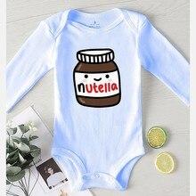 Annuncio pagliaccetto per neonati vestiti per bambini ragazza inverno cotone tutine ragazzo abbigliamento per bambini stampa Nutella tuta per bambini