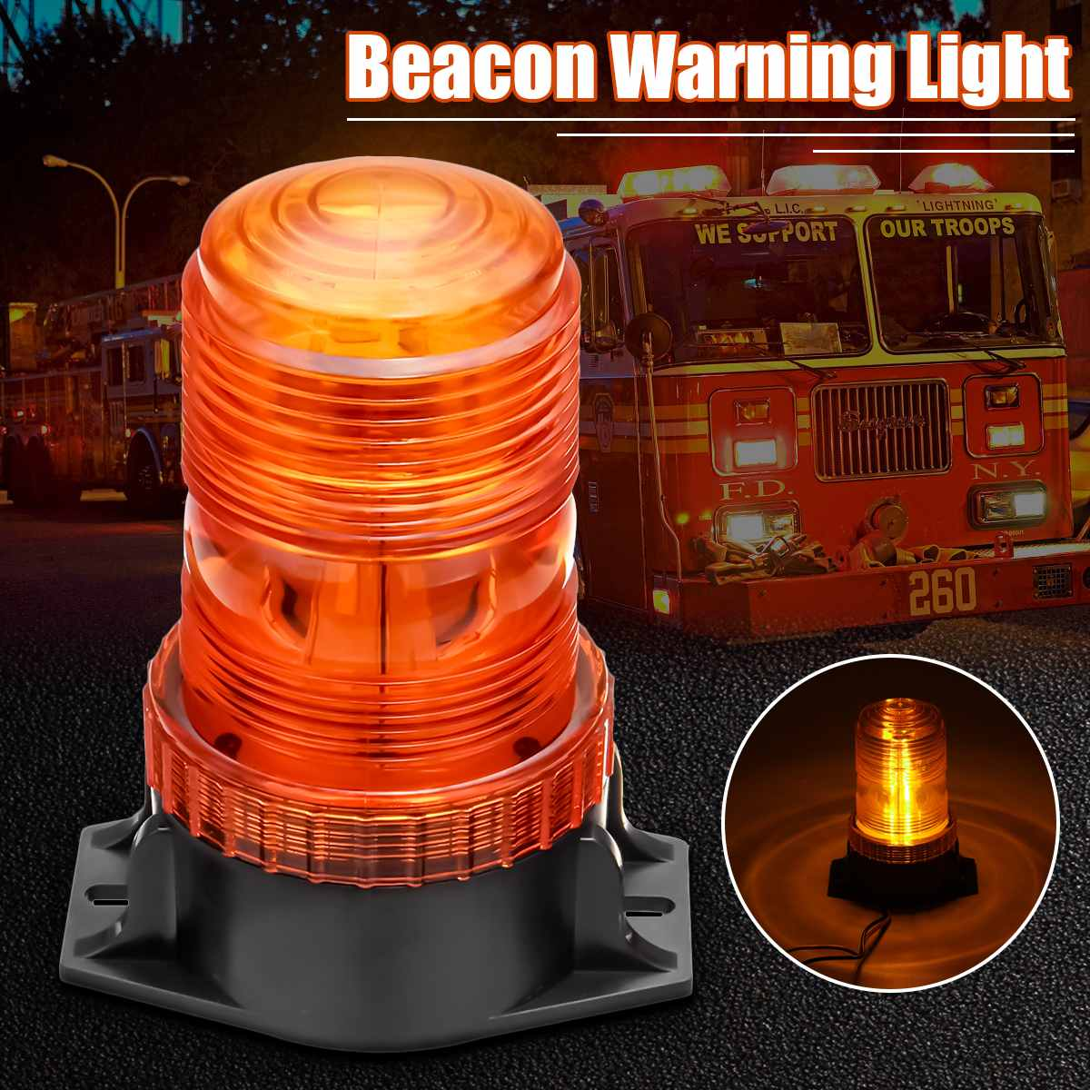 30LED 12-30V Signal Warning Light Flashing Bulb LED Indicator Signal Light Strobe Beacon Emergency Lamp Amber For Forklift