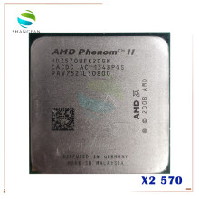 AMD Athlon X2 570 3.3GHz Dual-Core CPU HDZ570WFK2DGM 80W ซ็อกเก็ต AM3 938pin(China)