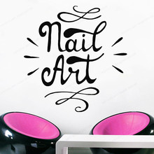 Manicure Pedicure wall decor Nail Bar vinyl  Nail art  window  Decal nail salon wall sticker  removable wall poster JH166 the nail bar wall sticker nail polish wall decor nail salon wall decal manicure window removable decor jh152