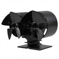 Ev Aletleri'ten Fanlar'de Isı Powered soba Fan şömineler soba Fan çift motorlu 8 bıçak ısı enerjili soba fanı için özel büyük oda Firepla