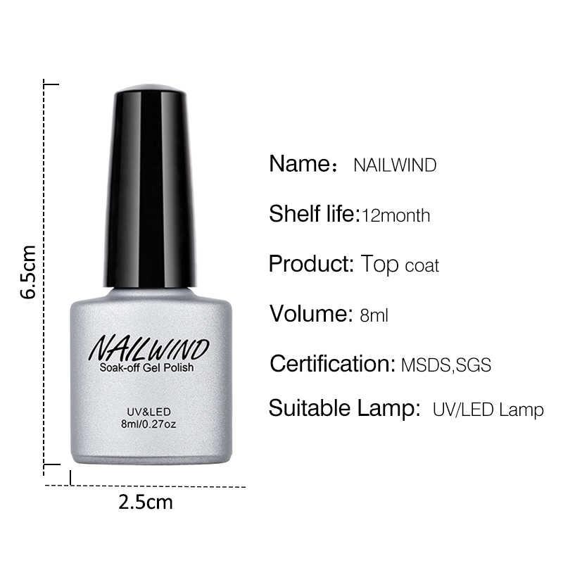 NAILWIND-Gel para uñas semipermanente, laca para uñas de larga duración UV LED, laca de Gel para lámpara UV 8ML