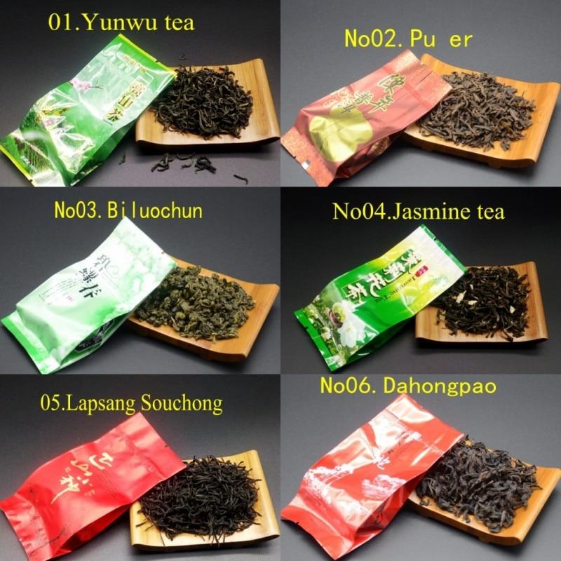 18 Different Flavors Chinese Tea Each tea Two bags Includes Milk Oolong Pu-erh Herbal Flower Black Green Tea 3