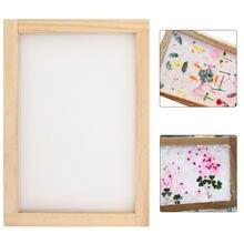 Papel que faz a tela do quadro diy madeira que faz a fabricação de papel molde artesanato ferramentas de reciclagem de papel de madeira deckle 20x30cm