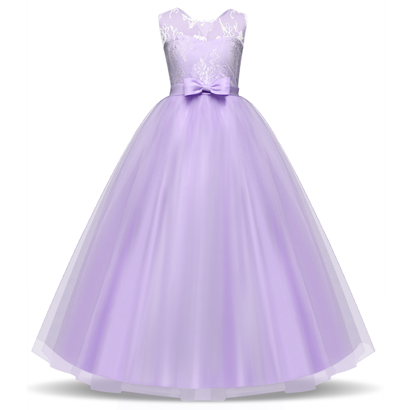Elegant Lace Princess Girl Christmas Party Dress Wedding Gown Kids Dresses For Girls Dress Children Clothing Teens 8 12 14 Year