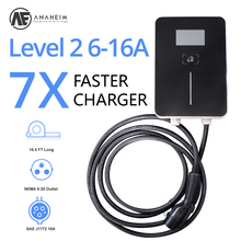 AE Anaheim j1772 evse electric car charger ev Level 2 /AC 220-280V  32A plug with EU Wall-mounted card lock power supply