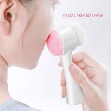 Щетка для мытья лица уход за кожей массажер очищающее средство