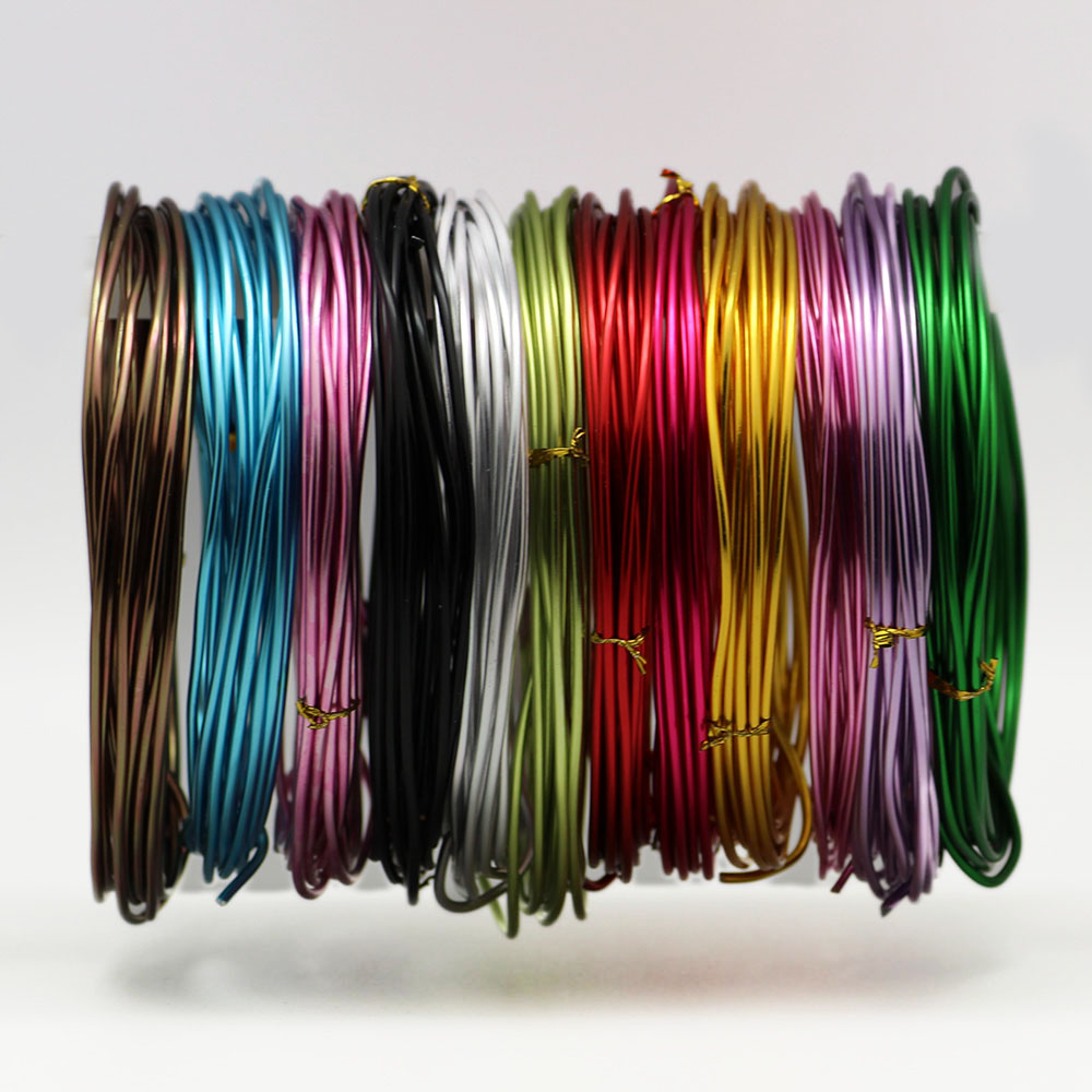 3~5m/lot  Anadized Color Aluminum Wire 1mm/1.5mm/2.mm/2.5mm Jewellery Wire Craft Metal Wire For DIY Handmade Jewelery Makings