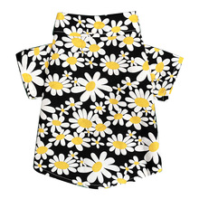 Pet Puppy Fashion Clothes Summer Daisy Pattern Shirt For Dog Soft Vest Clothes Cotton Puppy T Shirts For Small Medium-Sized Dogs dog clothes teddy dog vest spring and summer dog clothes suitable for small and medium sized dog coffee cotton pet vest t shirt