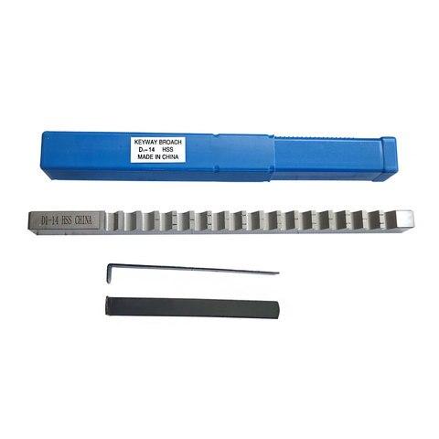 Tamanho de Alta Material de Aço Ferramenta de Corte de Metal Keyway Broach Push-tipo Métrica Velocidade Máquina Cnc 14mm d