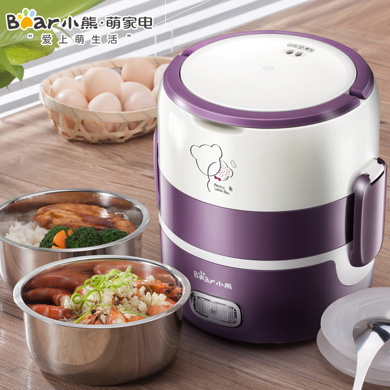 Lunch Electric Box Mini Can Be Inserted Electric Heating Portable Rice Cooker Steaming Rice Cooker  Double Electric Lunch Box 2
