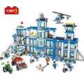 Строительные блоки Counter-Strike городской полиции штаб-квартира станция 0200 1397 шт. кирпичи игрушки военный вертолет игрушка для детей развивающа...